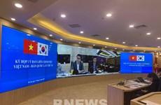 越南与韩国政府间经济和科技合作联合委员会第18次会议以视频形式举行