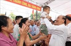 阮春福出席海阳省南册县孚联村全民族大团结日活动