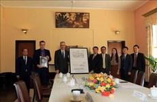 法国驻越南大使向林同省赠送保大3号避暑行宫设计图的数字化副本