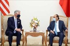 越南政府总理阮春福会见美国国家安全顾问罗伯特·奥布莱恩