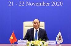 越南政府总理阮春福出席以视频方式举行的二十国集团领导人峰会