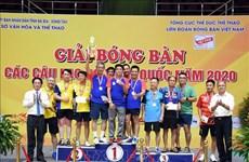 2020年越南乒乓球俱乐部比赛圆满落幕