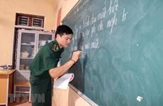 越南山罗省边防部队举办扫盲培训班 畅叙军民鱼水情谊