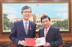 胡志明市领导会见前来辞行拜会的韩国总领事