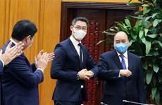 越南政府总理阮春福会见前德国副总理罗斯勒