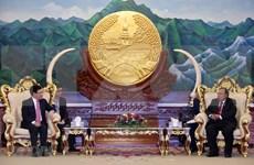 越南政府副总理兼外长范平明会见老挝领导人