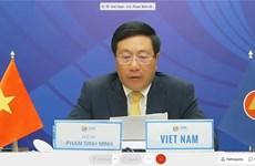 越南政府副总理兼外长范平明出席第23届东盟-欧盟外长会议
