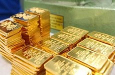 今日上午越南国内黄金价格徘徊在每两5500万越盾附近