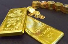 8日上午越南国内黄金价格每两上涨40万越盾
