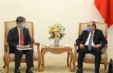 越南政府总理阮春福会见日本国际协力机构主席北冈伸一