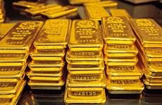 14日上午越南国内市场黄金价格保持在每两5500万越盾以上
