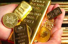 18日越南国内市场黄金价格每两上涨10万越盾