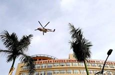 175号军医医院的医疗急救直升机停机坪正式投运