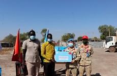 来自在南苏丹执行任务的越南野战医院之特殊礼物