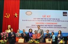 ADB向越南女性领导中小企业提供500万美元的无偿援助