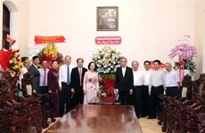 越共中央民运部部长张氏梅在圣诞节前夕走访天主教胡志明市总教区