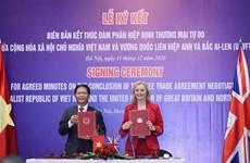 越南与英国自由贸易协定将于12月31日23时正式生效