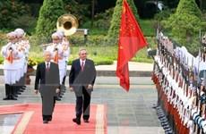 越南党和国家领导人向古巴领导人致贺电