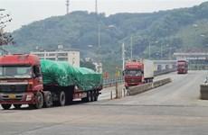 2021年伊始老街金城二号陆路国际口岸货物出口量达逾500吨