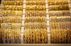 今日上午越南国内市场黄金价格每两接近5600万越盾