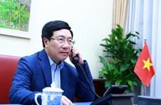 政府副总理兼外交部长范平明与美国国务卿蓬佩奥通电话
