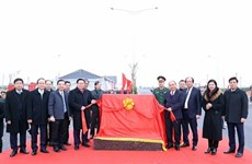 越南政府总理阮春福出席3号环路与河内——海防高速公路立交桥的落成典礼