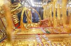 11日上午越南国内市场黄金价格每两跌破5600万越盾