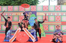 蒙族同胞迎新年文化空间为首都河内增添色彩