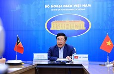越南与东帝汶继续在各国际和地区场合上保持合作和互相支持