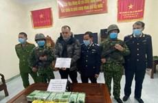 河静省警方破获运往越南的跨境贩毒大案