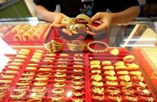 18日上午越南国内市场黄金价格每两5600万越盾以上