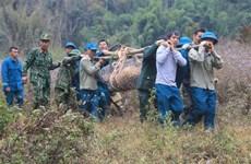 山罗省成功销毁一枚重达340公斤的战争遗留炸弹