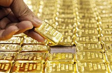 25日上午越南国内市场黄金价格每两上涨5万越盾