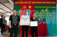 """越南政府总理向343位烈士追授""""祖国记功""""证书"""