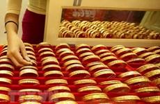 今日上午越南国内市场黄金价格每两下降10万越盾