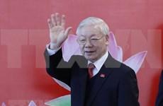 朝鲜劳动党总书记金正恩致电祝贺阮富仲