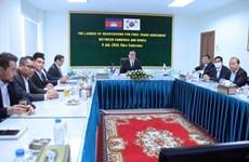 韩柬在七月谈判后达成自由贸易协定