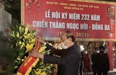 政府总理阮春福为民族布衣英雄光忠阮惠上香