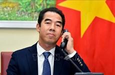 外交部副部长苏英勇与亚洲事务国务大臣奈杰尔·亚当斯通电话