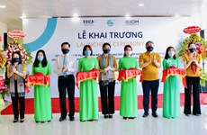 芹苴市:返乡移民妇女扶持一站式服务中心正式揭牌