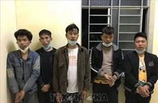 隆安省:逮捕非法出入越南国境的5名中国人