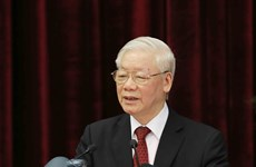 越共十三届中央委员会第二次全体会议闭幕会