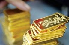 今日越南国内市场黄金价格每两下跌20万越盾