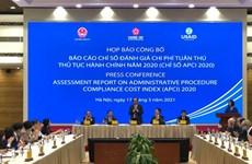 越南APCI 2020: 税务行政审批制度的改革排名第一