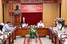 国会代表和各级人民议会代表换届选举:阮氏金银视察坚江省换届选举工作