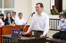 原工贸部部长武辉煌及其同案因造成国有资产超过2.7万亿越盾的损失再度出庭受审