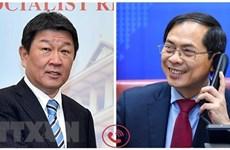 越南外交部长裴青山与日本外务大臣茂木敏充通电话