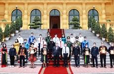 国家主席阮春福会见北江省少数民族代表