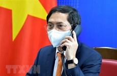 越南外交部部长裴青山与德国外交部部长马斯通电话