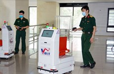 越南将机器人送往北江省助力抗疫
